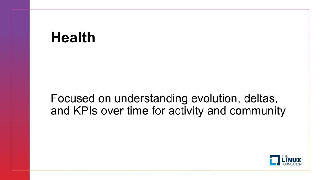 Health Focused on understanding evolution, delt...