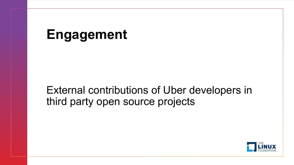 Engagement External contributions of Uber devel...