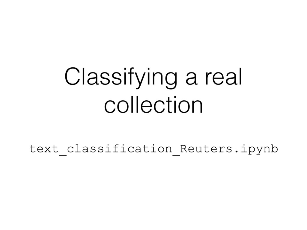 Classifying a real collection text_classificati...