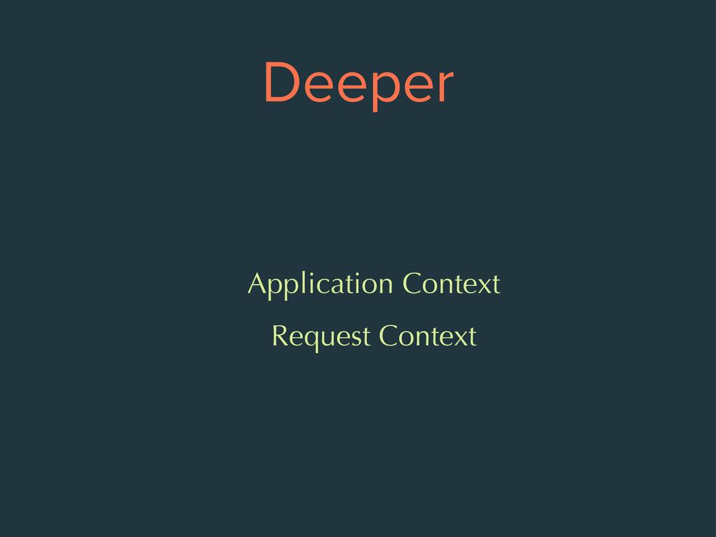 Deeper Application Context Request Context