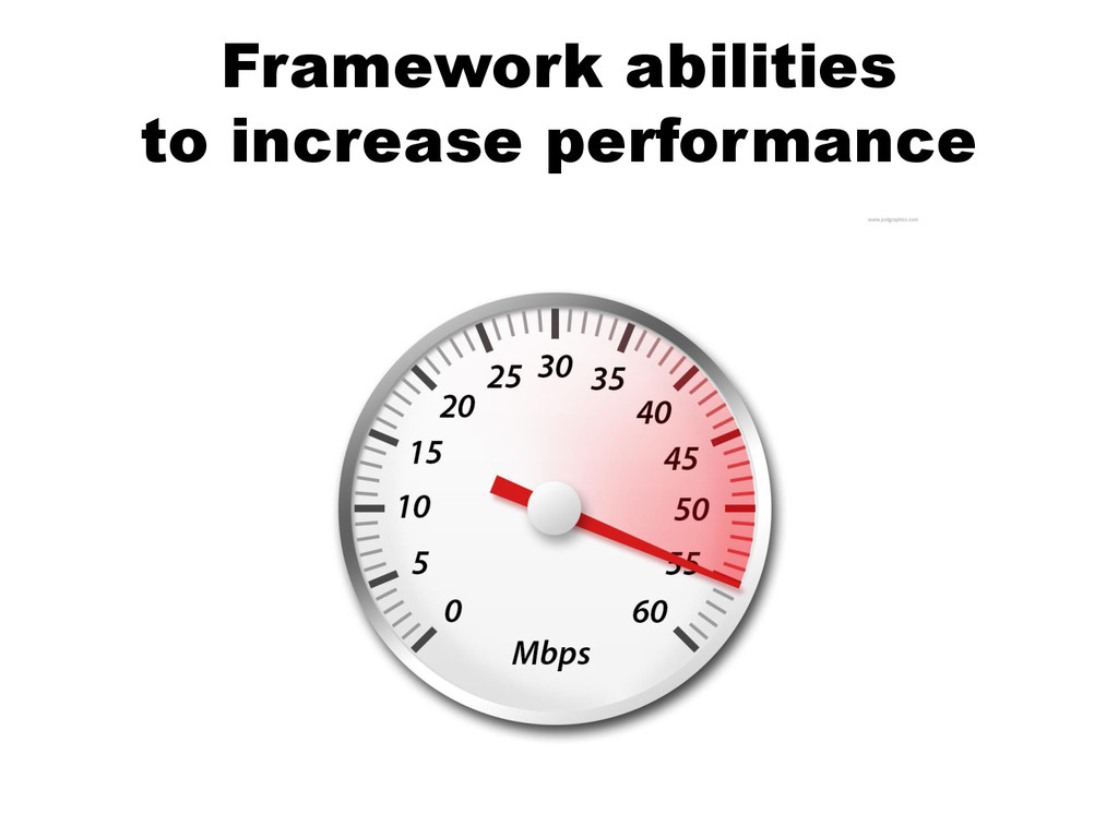 Framework abilities to increase performance