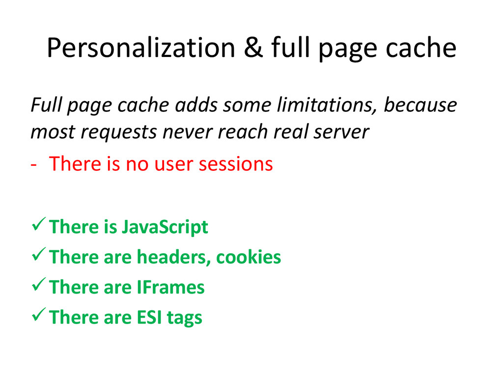 Personalization & full page cache Full page cac...