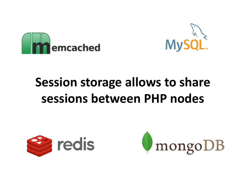 Session storage allows to share sessions betwee...