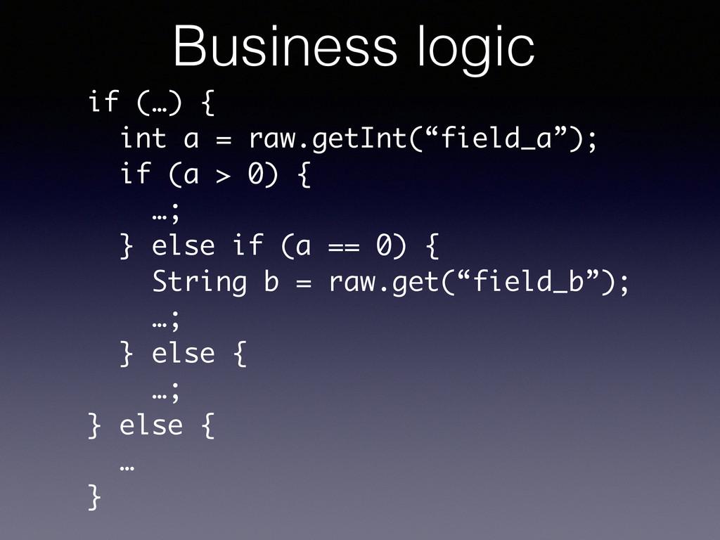 """if (…) { int a = raw.getInt(""""field_a""""); if (a >..."""