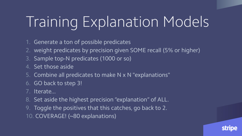Training Explanation Models 1. Generate a ton o...