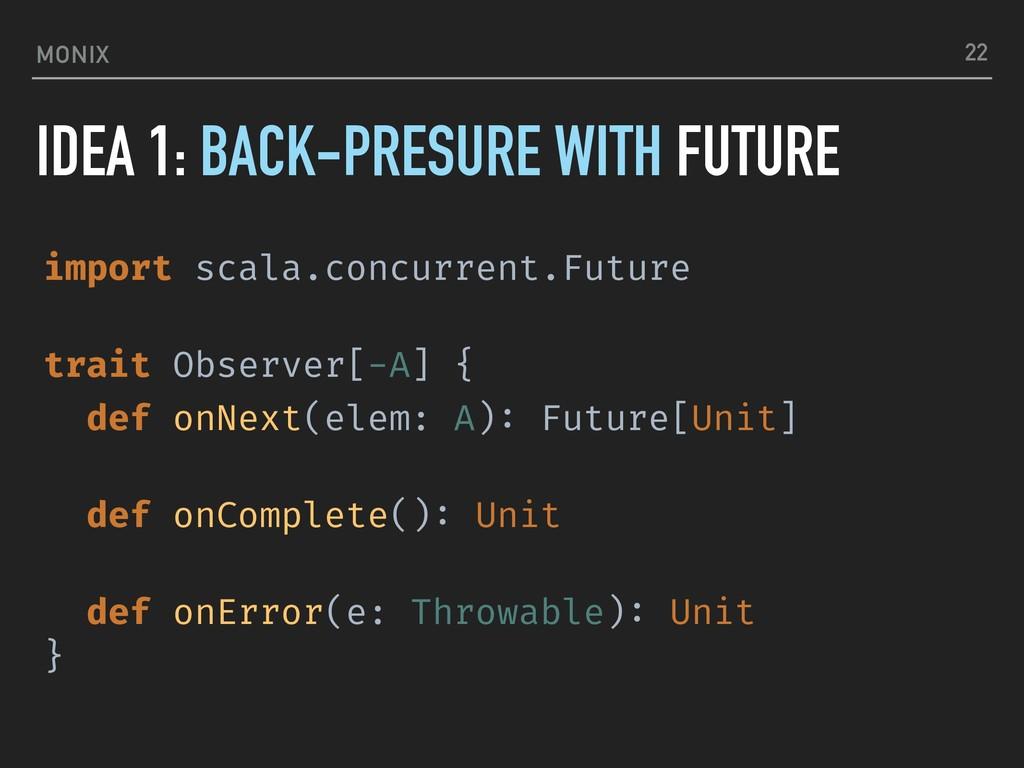 MONIX IDEA 1: BACK-PRESURE WITH FUTURE 22 impor...