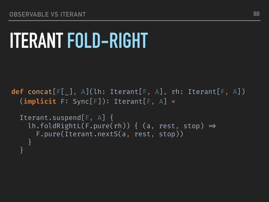 OBSERVABLE VS ITERANT ITERANT FOLD-RIGHT 88 def...
