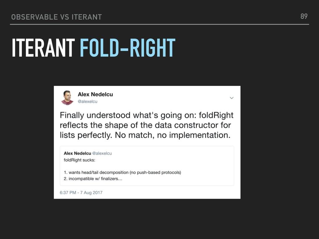 OBSERVABLE VS ITERANT ITERANT FOLD-RIGHT 89