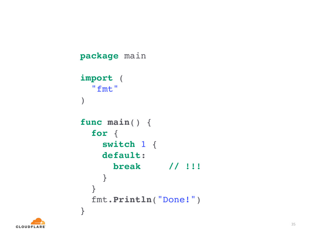 "35 package main import ( ""fmt"" ) func main() { ..."
