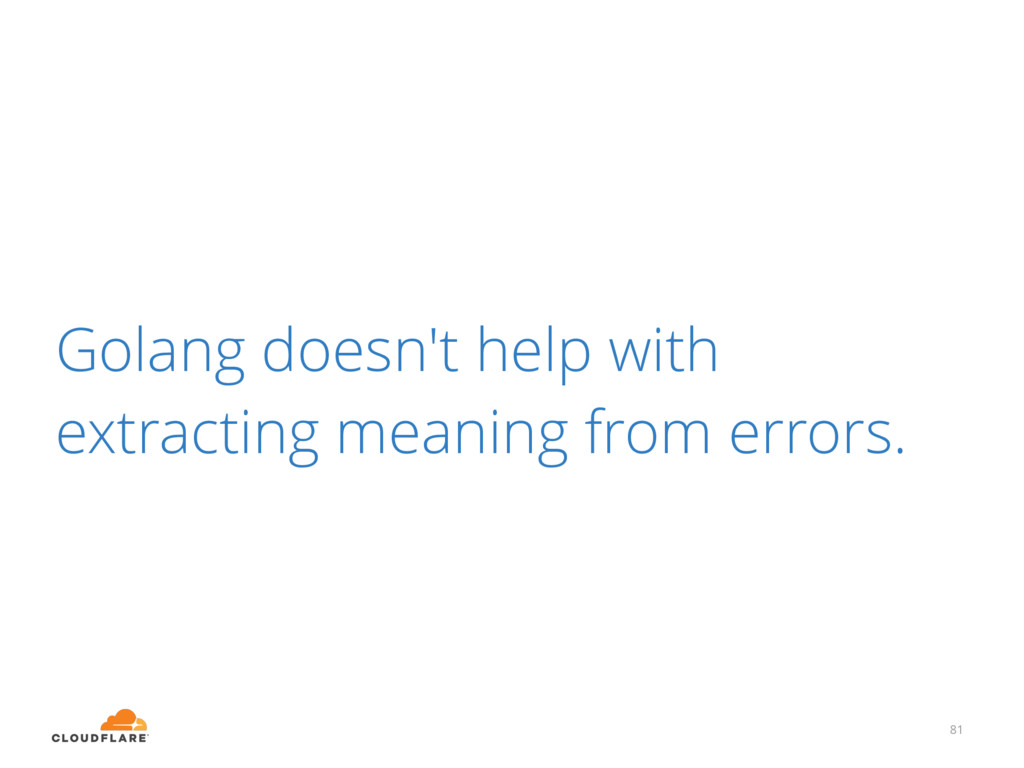 Golang doesn't help with extracting meaning fro...