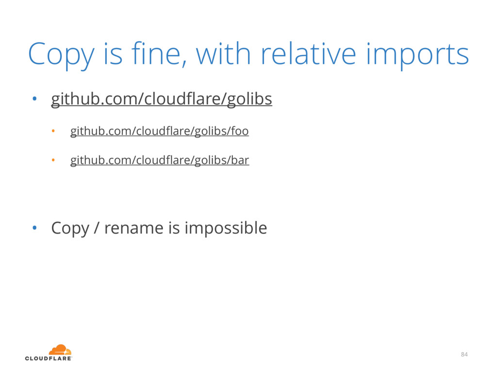 Copy is fine, with relative imports • github.com...