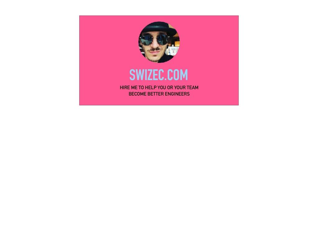 SWIZEC.COM HIRE ME TO HELP YOU OR YOUR TEAM BEC...