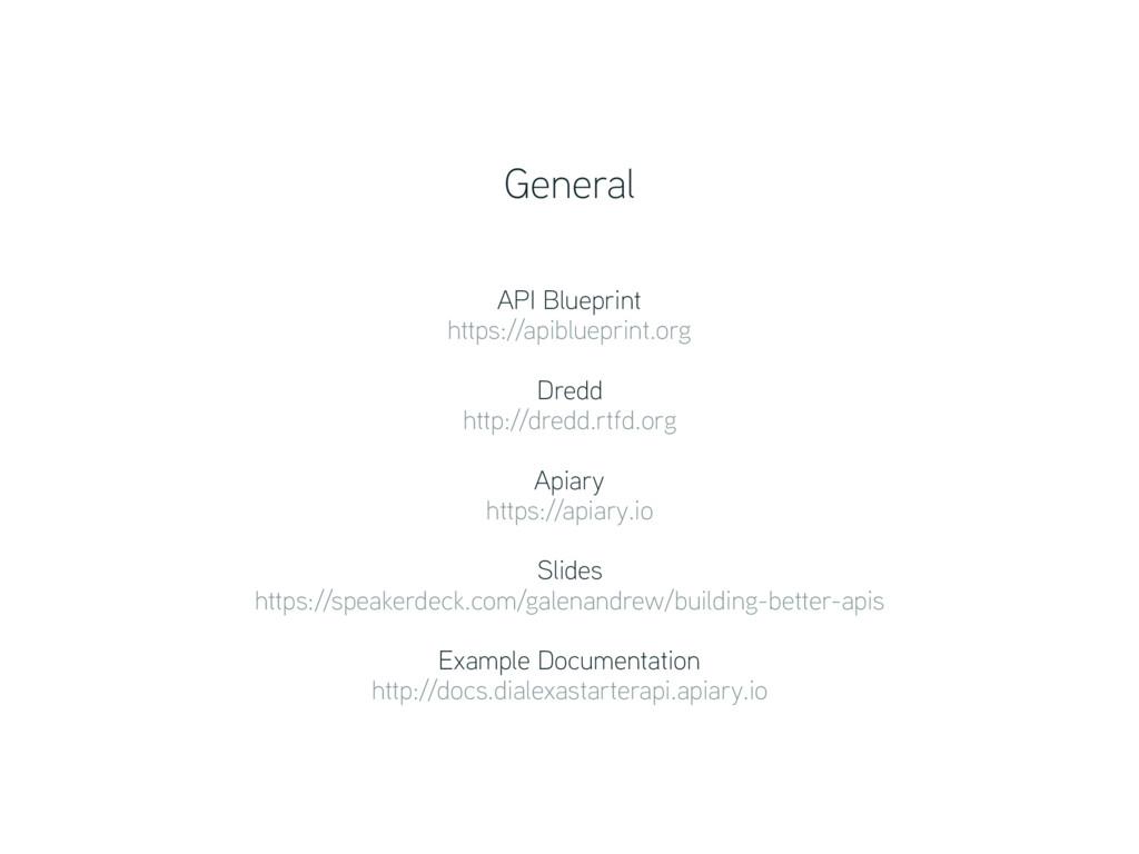 API Blueprint https://apiblueprint.org Dredd ...