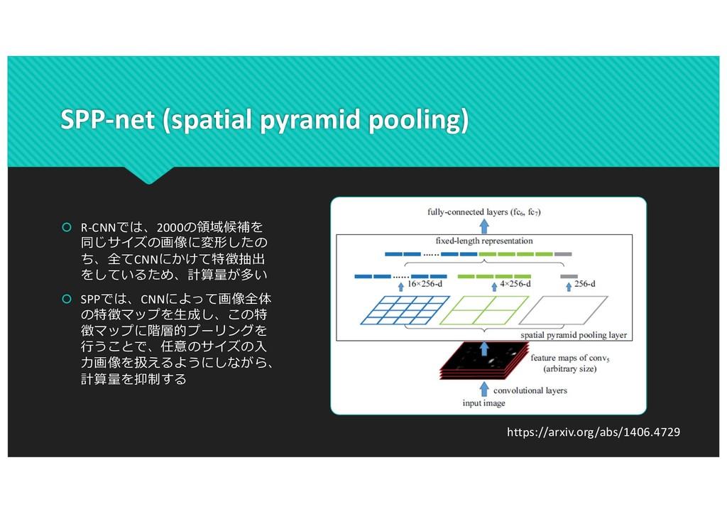 SPP-net (spatial pyramid pooling) š R-CNNでは、200...