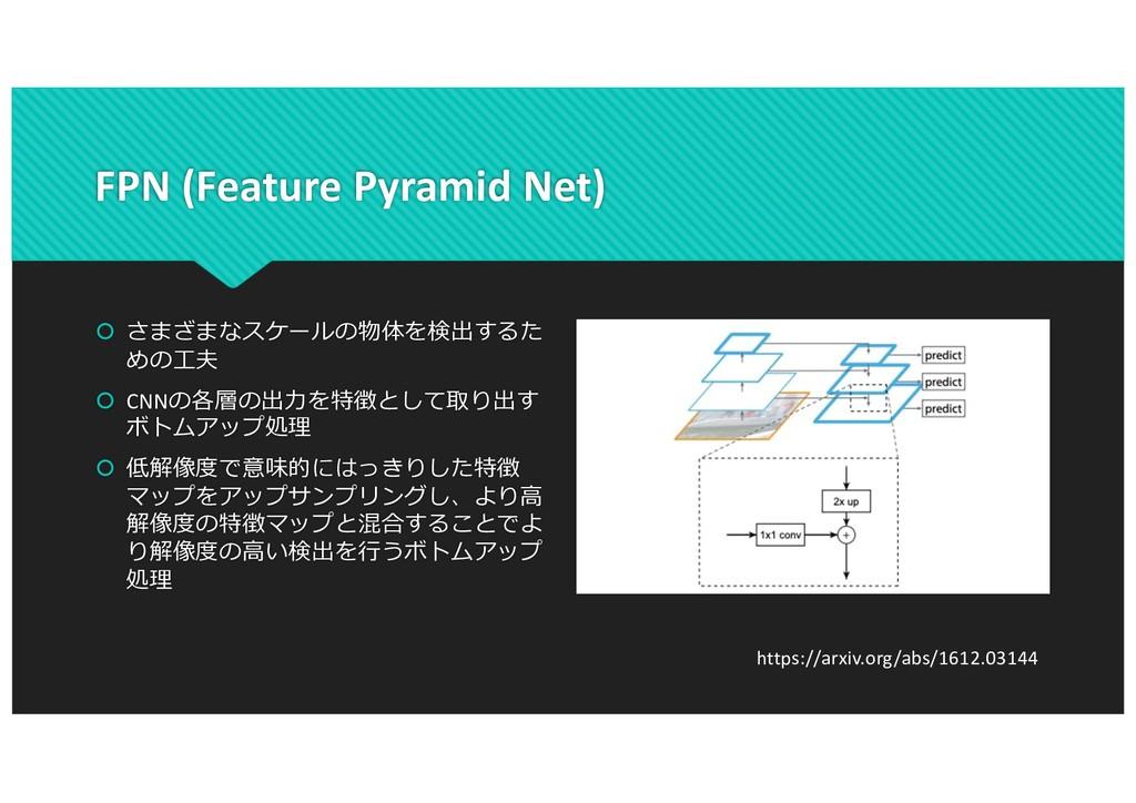 FPN (Feature Pyramid Net) š さまざまなスケールの物体を検出するた ...