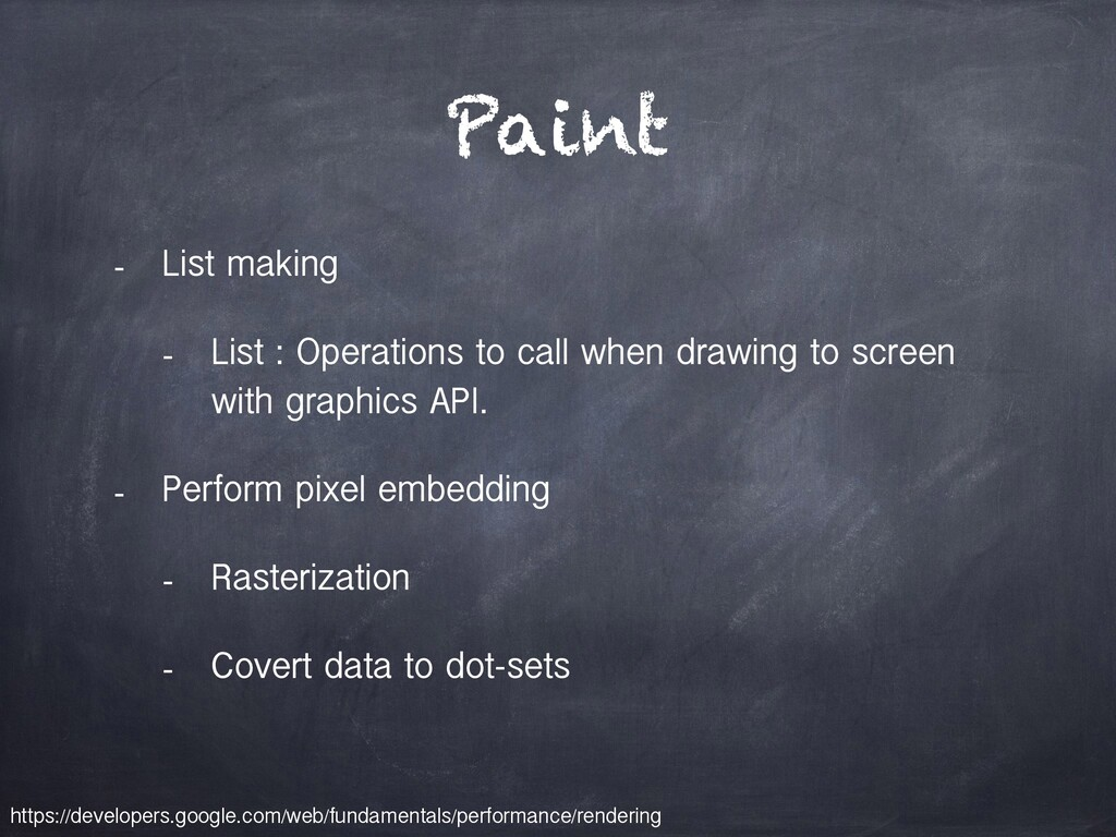 Paint - List making - List : Operations to call...