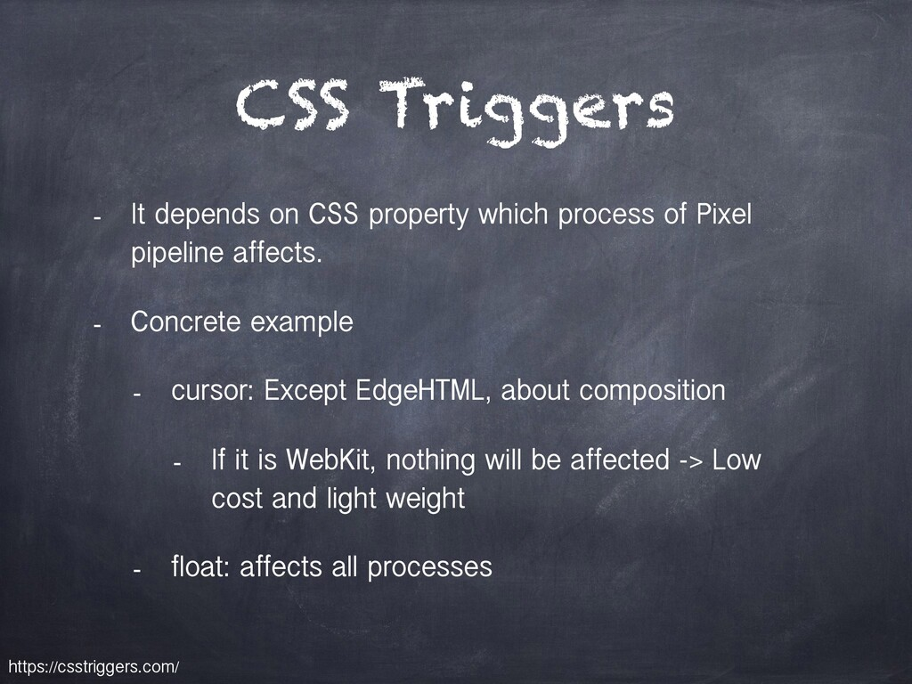 CSS Triggers - It depends on CSS property which...