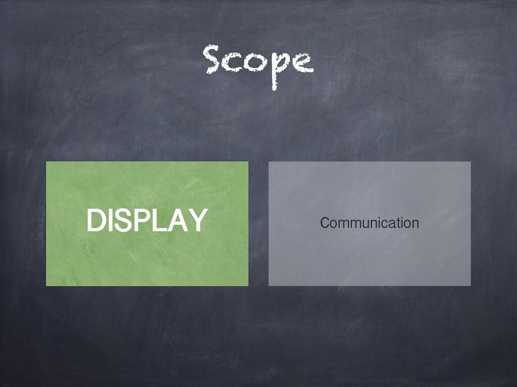 Scope DISPLAY Communication
