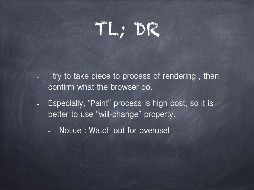 TL; DR - I try to take piece to process of rend...