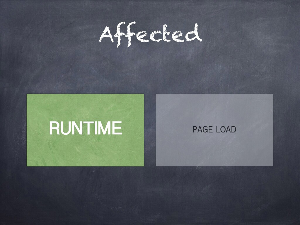 Affected RUNTIME PAGE LOAD