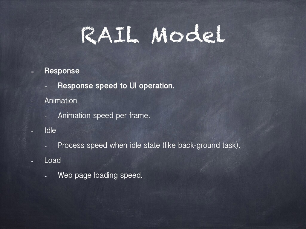 RAIL Model - Response - Response speed to UI op...