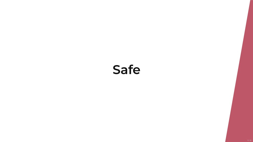 Safe 9/39