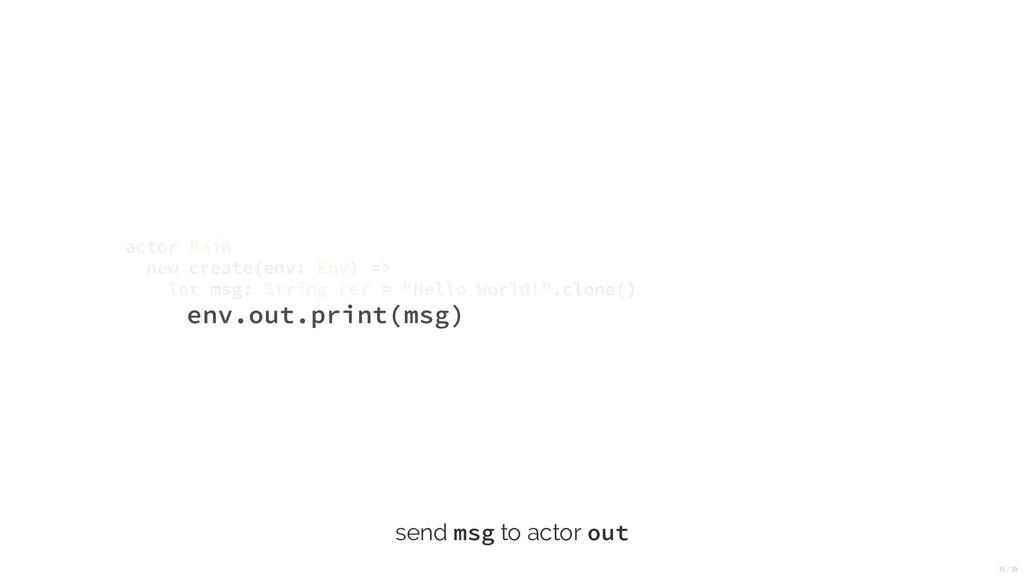env.out.print(msg) actor Main new create(env: E...