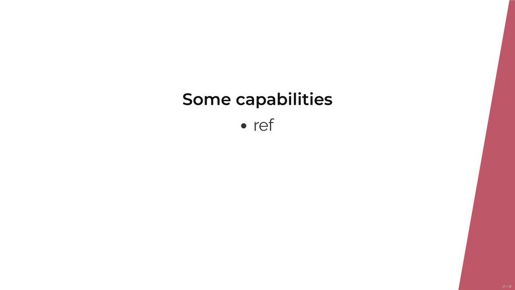 Some capabilities ref 27/39