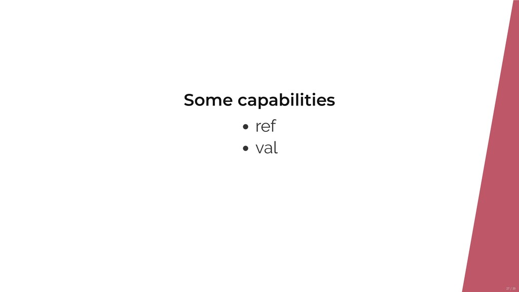 Some capabilities ref val 27/39