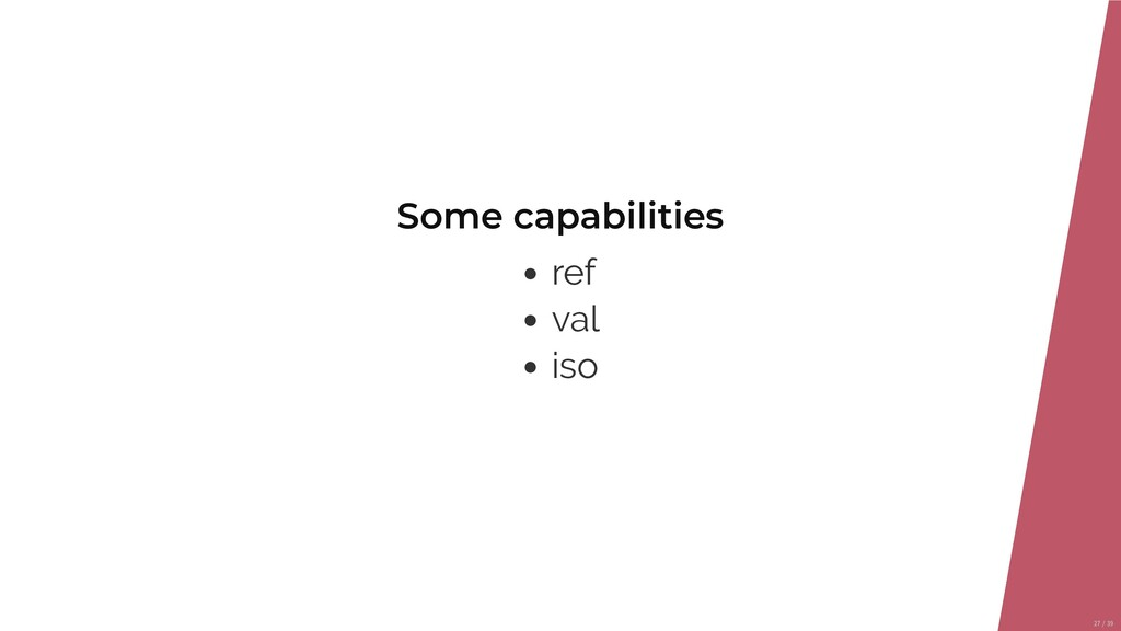 Some capabilities ref val iso 27/39