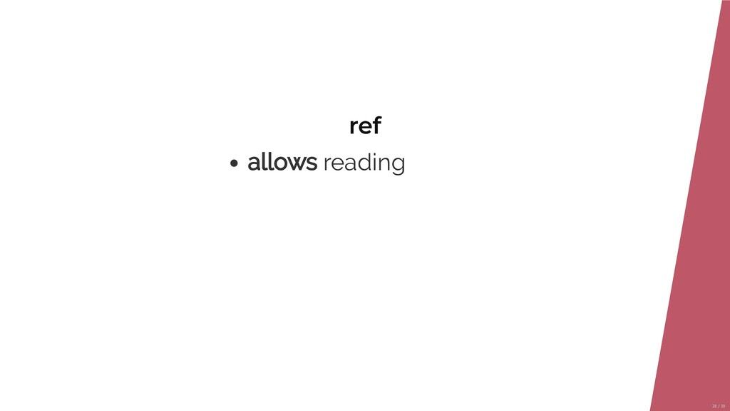 ref allows reading 28/39