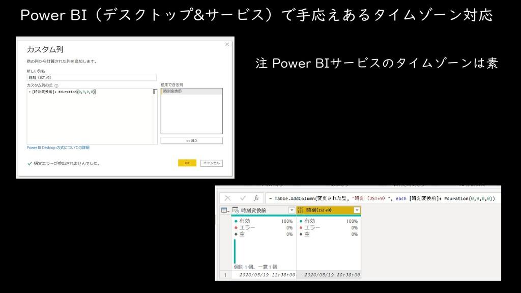 Power BI(デスクトップ&サービス)で手応えあるタイムゾーン対応 注 Power BIサ...