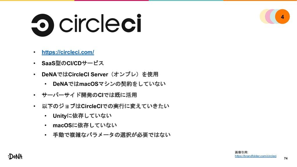 • https://circleci.com/ • SaaS型のCI/CDサービス • DeN...