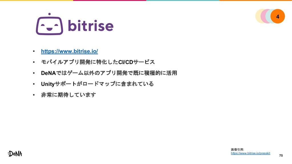 • https://www.bitrise.io/ • モバイルアプリ開発に特化したCI/CD...