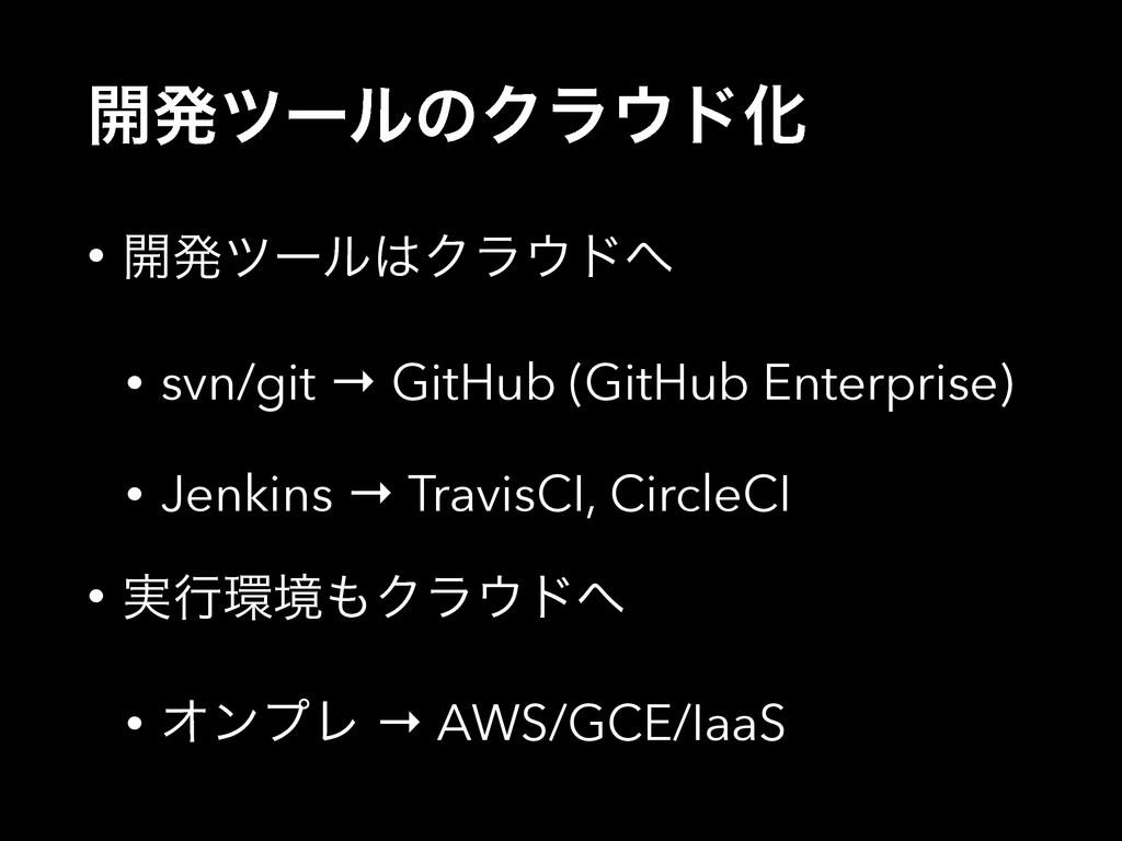 ։ൃπʔϧͷΫϥυԽ • ։ൃπʔϧΫϥυ • svn/git → GitHub (G...