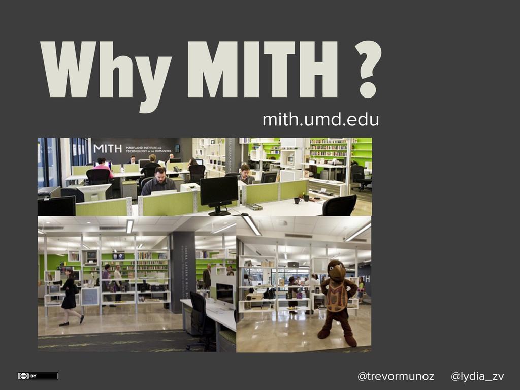 @trevormunoz @lydia_zv Why MITH ? mith.umd.edu
