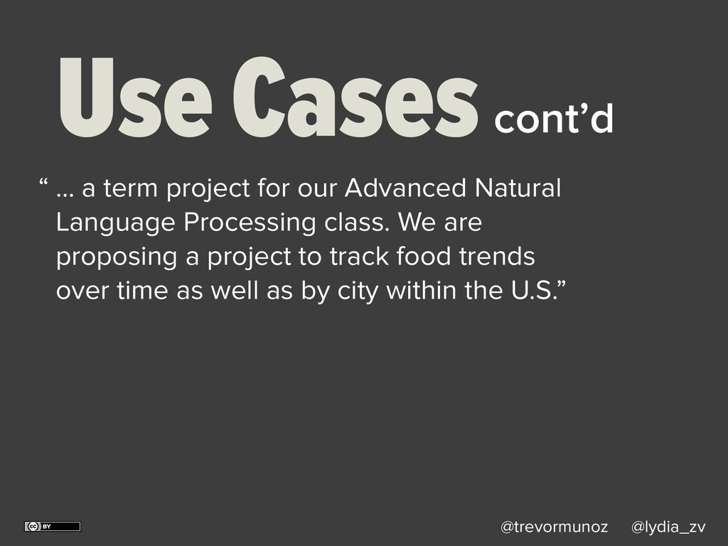 @trevormunoz @lydia_zv Use Cases … a term proje...