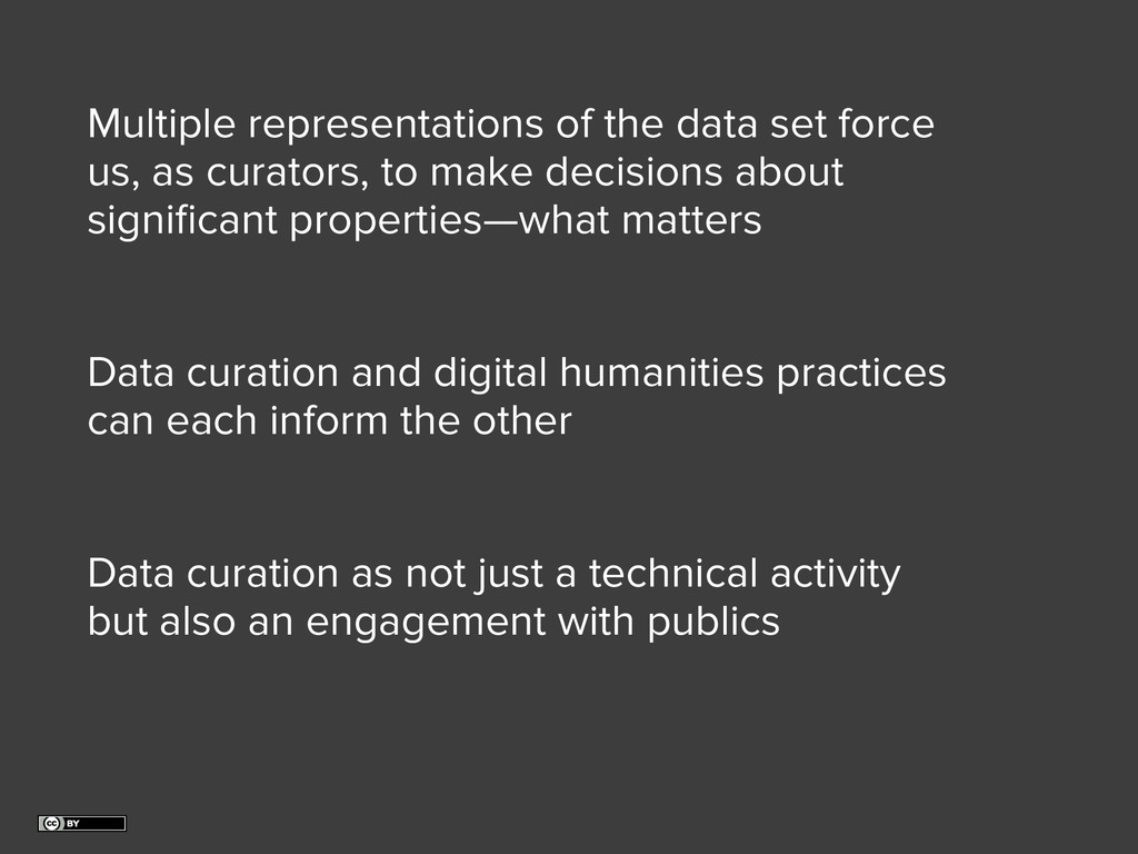 Data curation as not just a technical activity ...