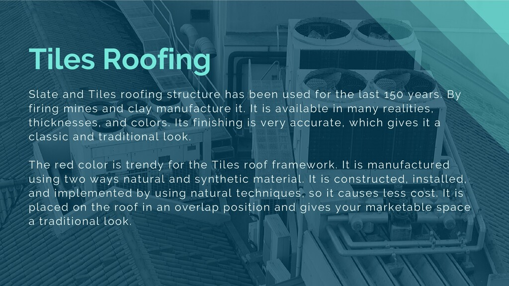 Tiles Roofing Slate and Tiles roofing structure...