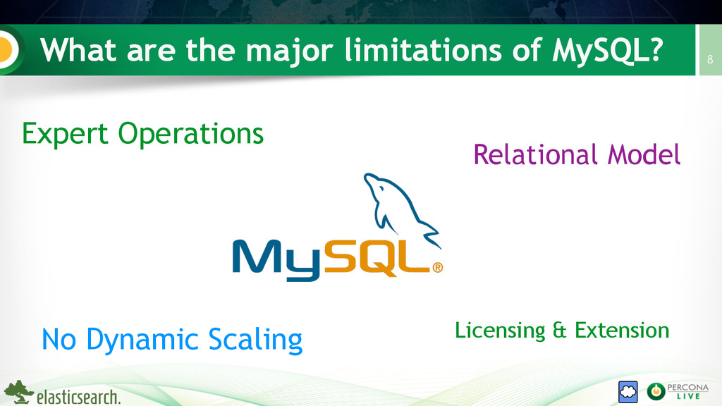 What are the major limitations of MySQL? 8 Expe...