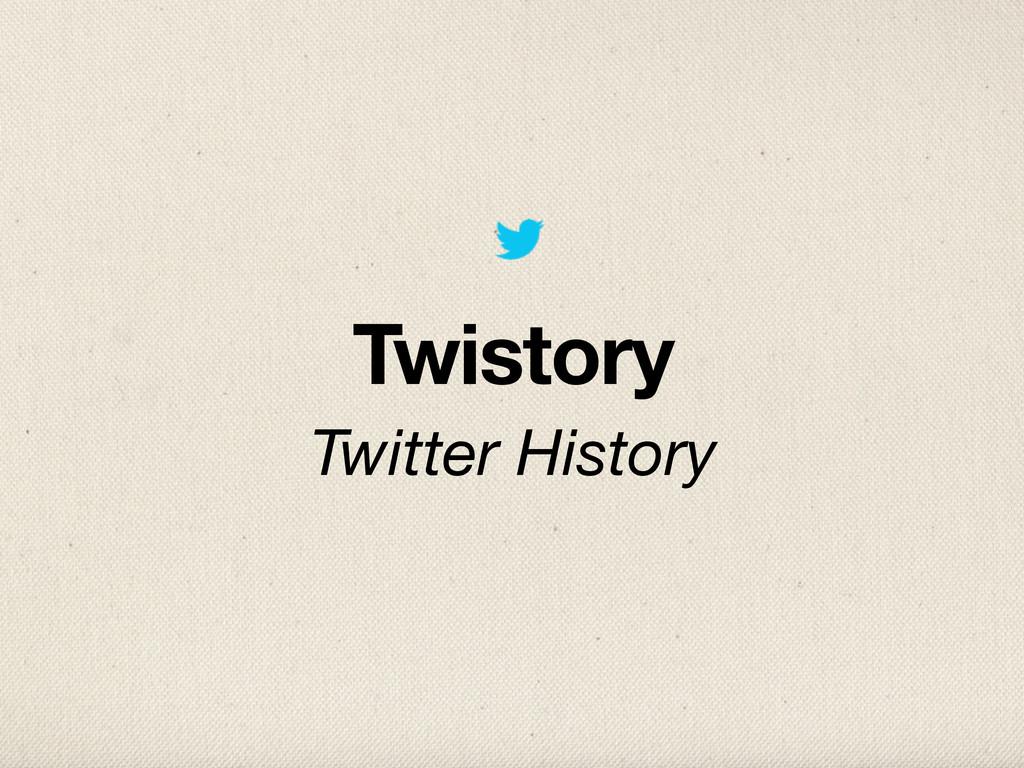Twistory Twitter History