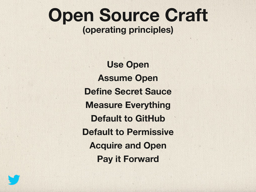 Open Source Craft (operating principles) Use Op...