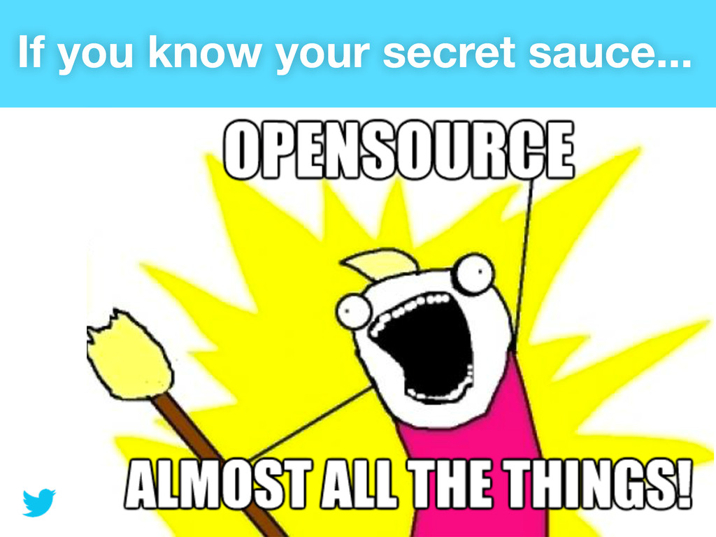If you know your secret sauce...