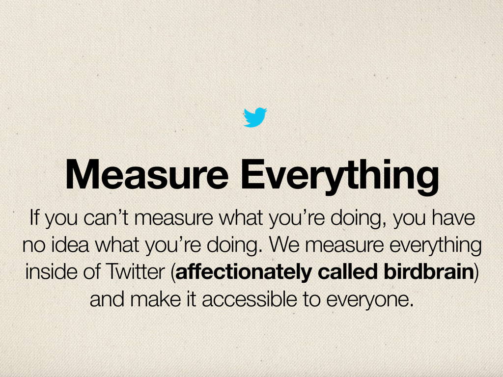 Measure Everything If you can't measure what yo...