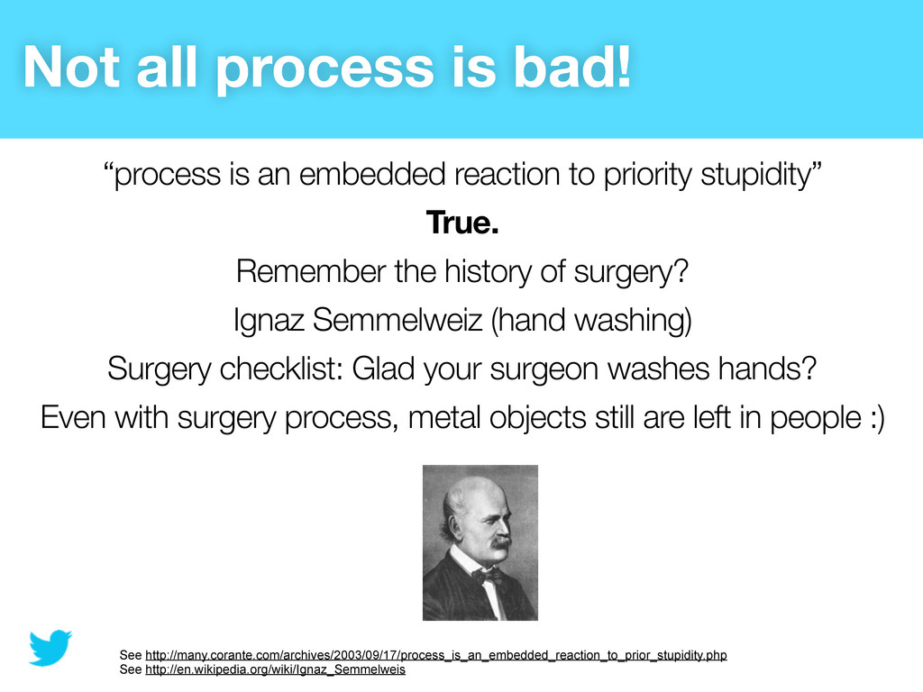 "Not all process is bad! ""process is an embedded..."