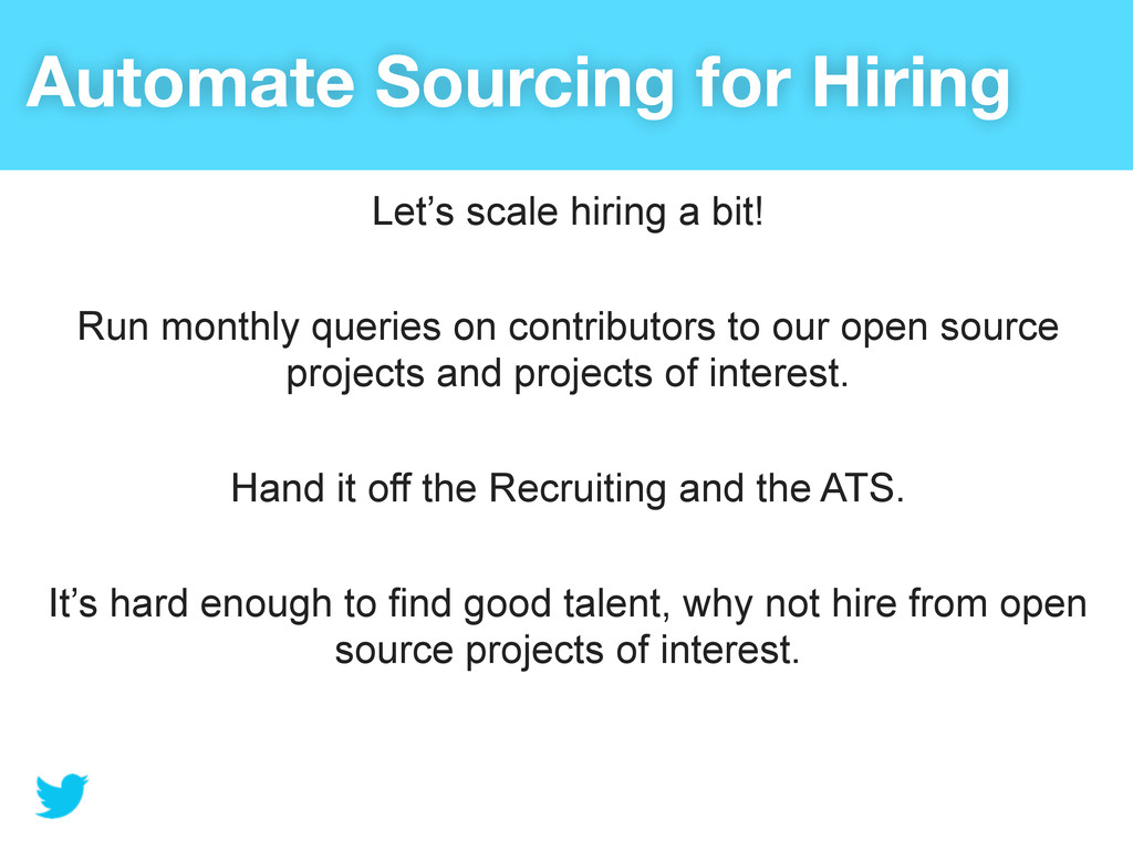 Automate Sourcing for Hiring Let's scale hiring...