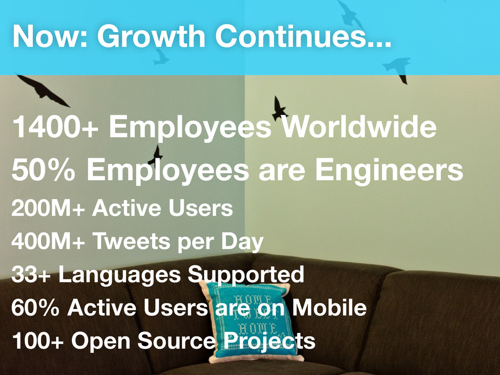 Now: Growth Continues... 1400+ Employees Worldw...