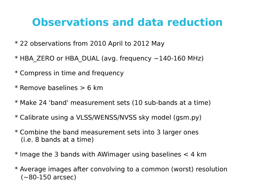 Observations and data reduction * 22 observatio...