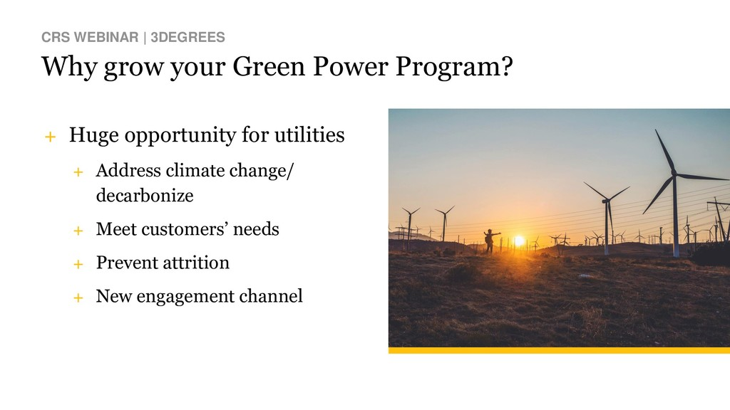 Why grow your Green Power Program? CRS WEBINAR ...
