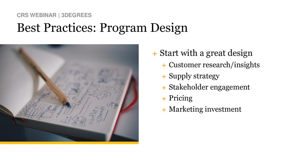 Best Practices: Program Design CRS WEBINAR | 3D...